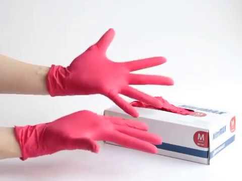 Перчатки нитриловые NitriMAX, цвет красный