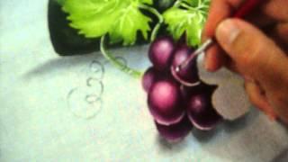 Aprenda a pintar Uvas na cor rubi em mais uma Vídeo Aula