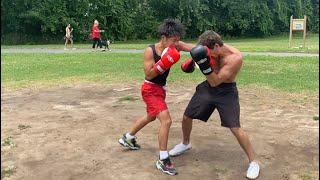 Asian Boxer vs Trash Talker (MMA Fighter) STREET BOXING