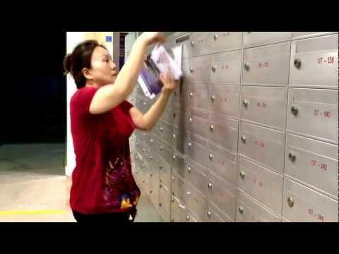 هكذا يتم توزيع الاعلانات على صناديق البريد في الصين