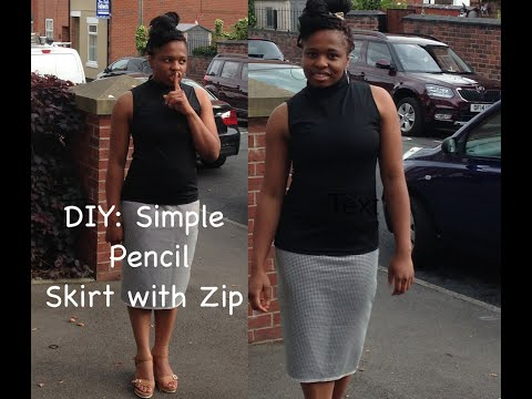 Download DIY: HOW TO SEW PENCIL SKIRT WITH ZIPPER AND SLIT TUTORIAL HD Mp4 3GP Video and MP3