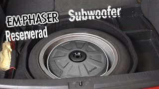 Bass für den Golf6 EMPHASER Subwoofer EBS108A einbauen