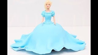 How To Make A Very Simple CINDERELLA CAKE!