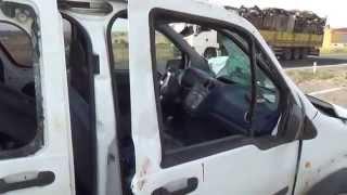 Siverek'te Polis Aracı Kaza Yaptı