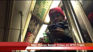 Man Blares Sexist Train Video on NYC 1 Train
