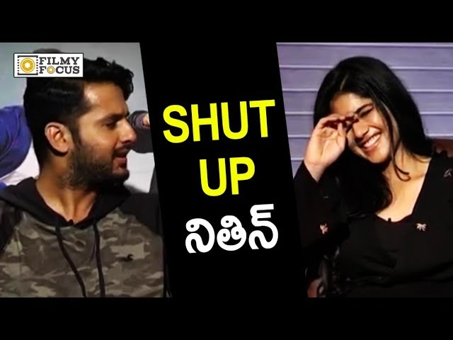 Megha Akash Angry on Nithin Special Interview | Nithin Making Fun
