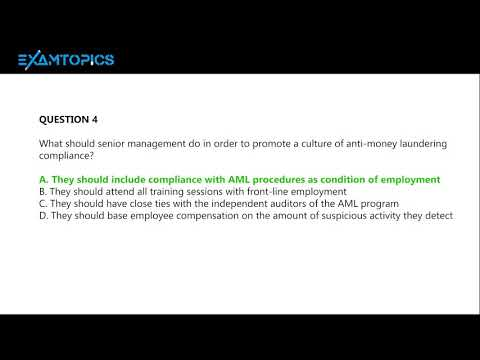 CAMS - Certified Anti-Money Laundering Specialists - Examtopics ...
