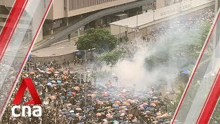 Hong Kong Police Use Tear Gas On Protesters Trying To Storm Legislative Council Building
