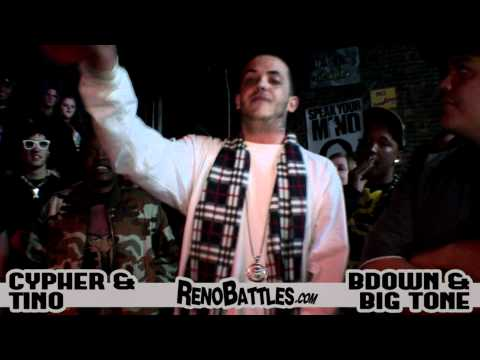 BDOWN & BIG TONE vs CYPHER & TINO - 5/23/11 in Reno, NV (guest judge OKWERDZ)