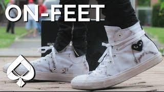 6e4ffefb4ee CDG Marble Converse Chuck Taylor 2 All-Star Custom ON-FEET