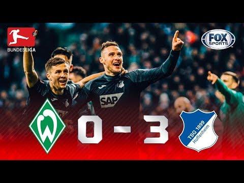 ATROPELO VISITANTE! Hoffenheim domina Werder Bremen na Bundesliga