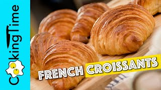 How to Make FRENCH CROISSANTS recipe 🥐  laminated yeast dough recipe at home | ENGLISH DUBBING