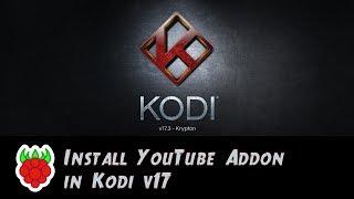 YouTube Addon Install Under Kodi v17