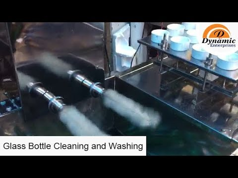 Glass Bottles Washing