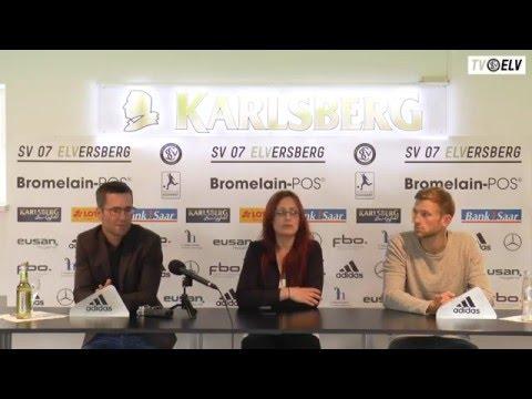 TV Elv // Pressekonferenz    SV Saar 05 vs. SV Elversberg / 11.05.16