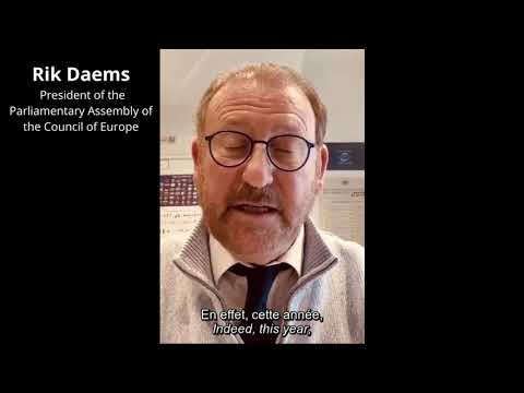 PACE President Rik Daems - Message for Europe Day 2020 Online Campaign