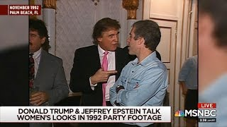 video: Video emerges showing Trump and Jeffrey Epstein partying with cheerleaders in 1992