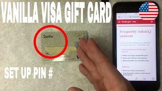 ✅  How To Set Up PIN On Vanilla Visa Gift Card 🔴