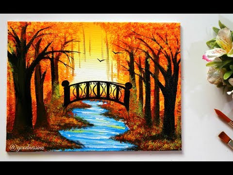 STEP By STEP  Autumn Landscape Painting Tutorial For Beginners Mp3