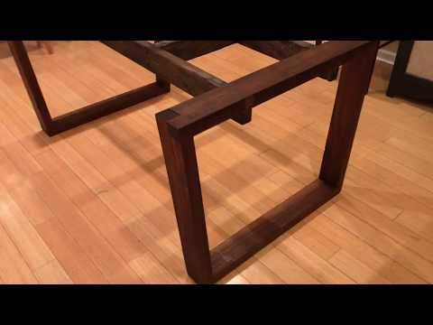 Walnut Dining Table Part 1: The legs and base.