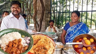 Hard Working Couple Selling Roadside Unlimited Biryani And Non Veg Meals | Indian Street food