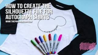 How To Design This Disney Autograph Shirt With Silhouette Studio