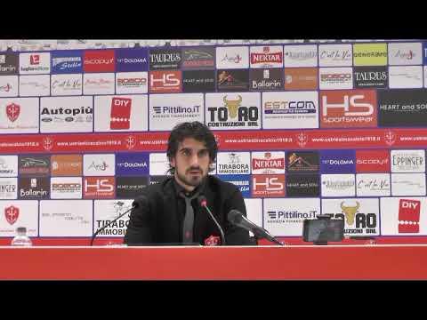 Sala stampa Triestina - Fano: Rocco Costantino