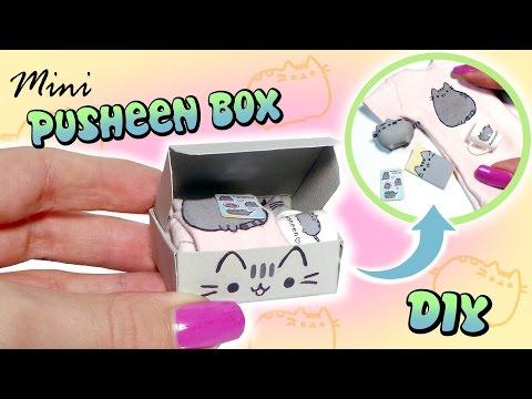 Miniature Pusheen Subscription Box Tutorial // DIY dolls/dollhouse