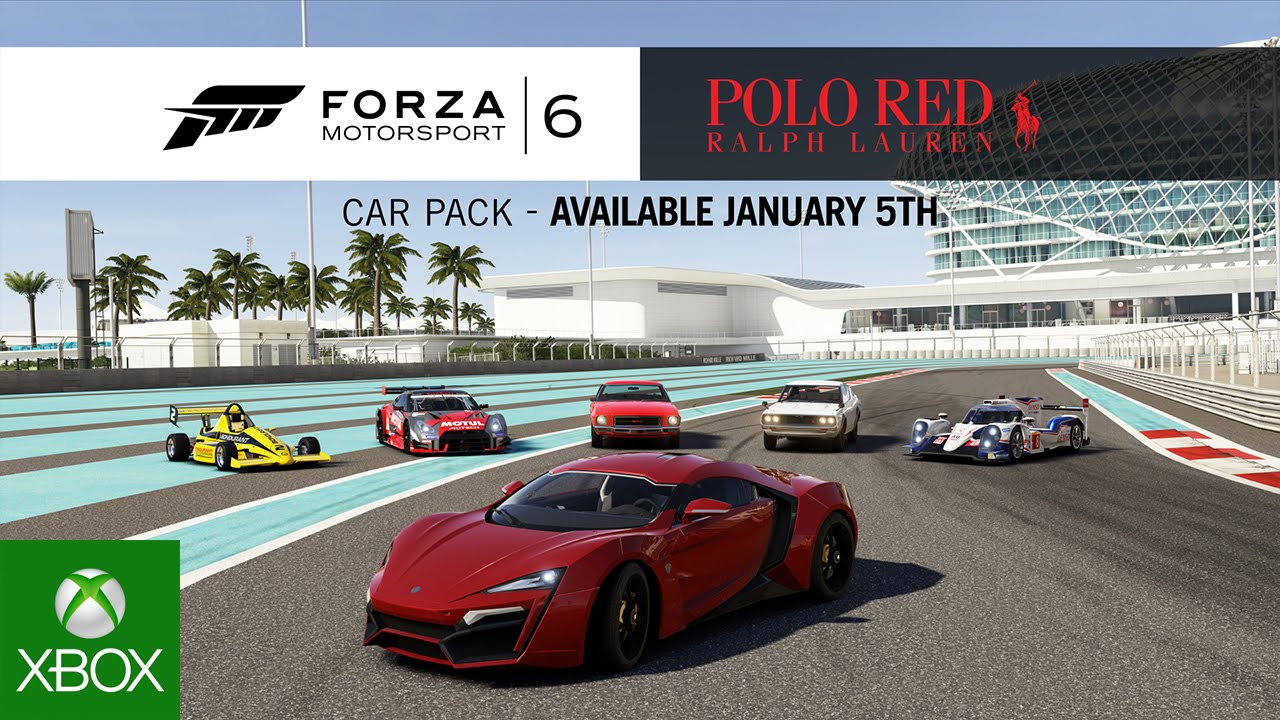 Video for Dress Up Your Forza Motorsport 6 Garage with the Ralph Lauren Polo Red Car Pack