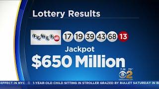 Powerball Jackpot Now At $650 Million