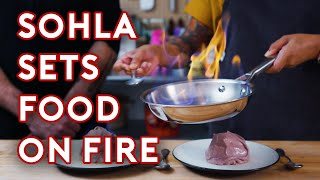 Soup and Ice Cream on Fire | Stump Sohla