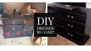 DIY Dresser ReVamp - Dresser Makeover ! | PreKnechia JaNae