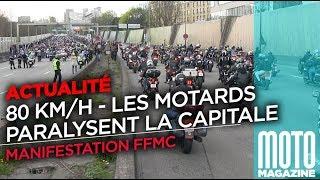 Manif FFMC contre les 80 kmh - Les motards bloquent Paris