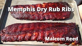 Memphis Style Rib Recipe   How to smoke Memphis Style Dry Rub Ribs Malcom Reed HowToBBQRight