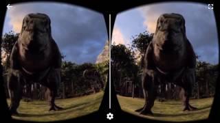Dinosaurs VR Experience Google Cardboard Virtual Reality 3D Gameplay 1080p