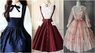 Beautiful Suspender Dresses And Vintage Gothic Dresses Design For Women
