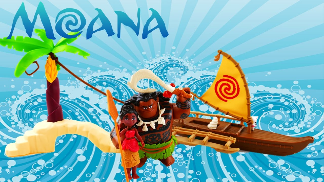 Disney Moana Adventure Canoe and Maui the Demigod's Kakamora Adventure Toy Review | Evies Toy House