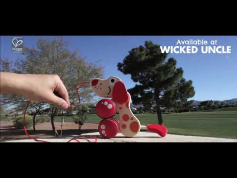 Youtube Video for Walkalong Wooden Puppy - Walks & Sits!