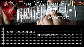 The Wicked End Guitar Solo Lesson - Avenged Sevenfold (with tabs)