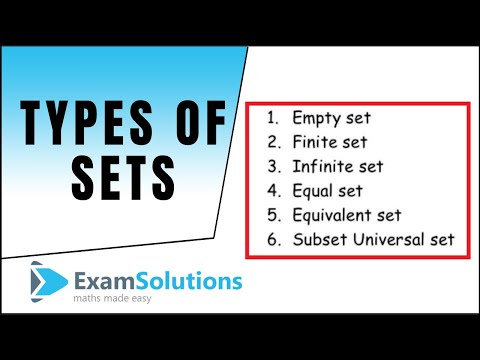 Types of Sets : ExamSolutions Maths Revision - YouTube
