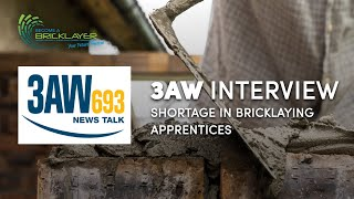 3AW Interview - Shortage in Bricklaying Apprentices