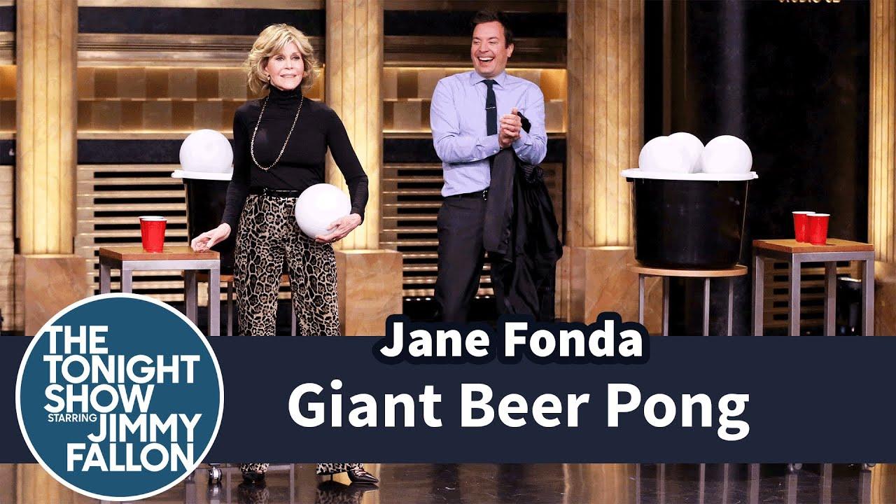 Giant Beer Pong with Jane Fonda thumbnail