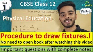 Procedure to draw Fixtures | Knock-out | Round-Robin | Cyclic | Staircase | Unit - 1 | Part - 3