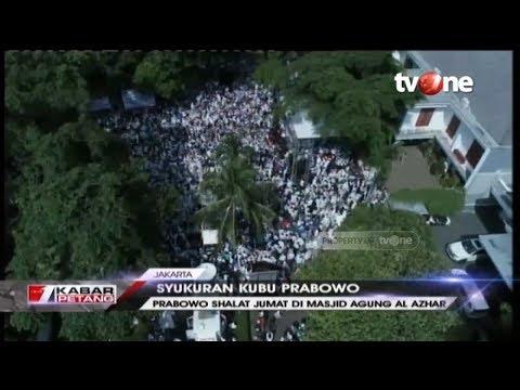 Syukuran Kubu Prabowo, Pendukung Padati Jalan Kertanegara, Jakarta
