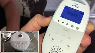 Philips Avent Babyphone DECT - Kinder Überwachung inkl. Sternenhimmel Projektor Bedienungsanleitung