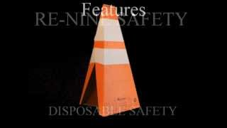 Re-Nine Safety 28 INCH Disposable Traffic Cone