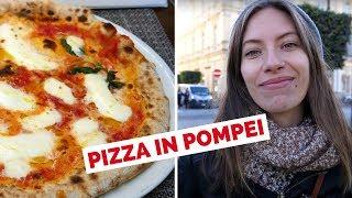 Authentic Italian Pizza in Italy eating at Alleria Pizzeria in Pompei, Naples