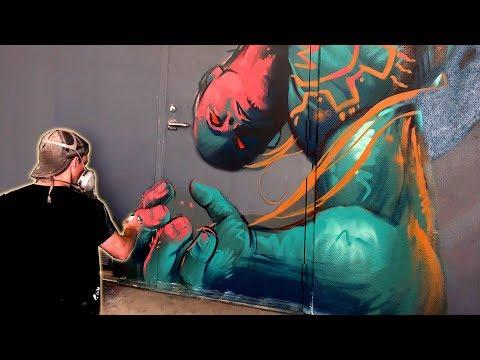"""Crush"" Mural Painting in Palm Desert!"
