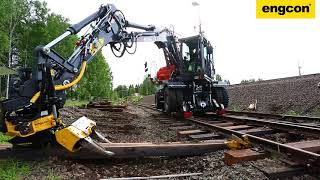 Atlas 160W Railroad With Engcon Tiltrotator And Rail Grabber