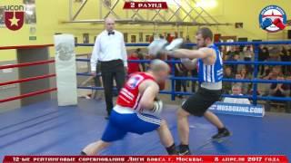 12-е рейтинговые бои Лига бокса г. Москвы  – 08.04.17 г. до 91 кг.